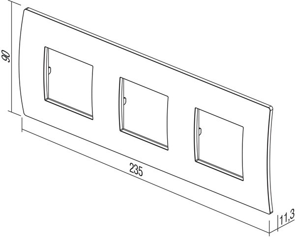 TEM Serie Modul Rahmen OP COVER PLATE PURE3x2M GY