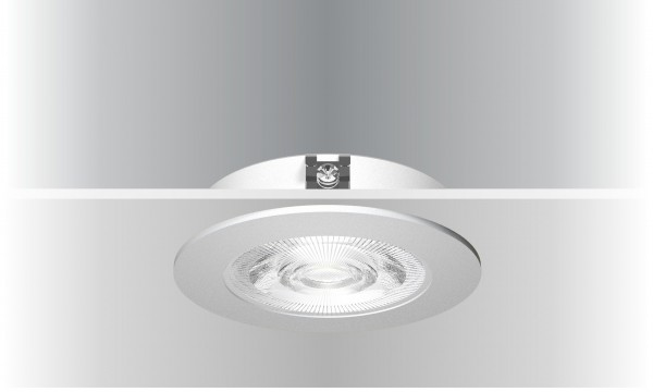 Synergy 21 LED Deckeneinbauspot Helios schwarz, rund, neutralweiß