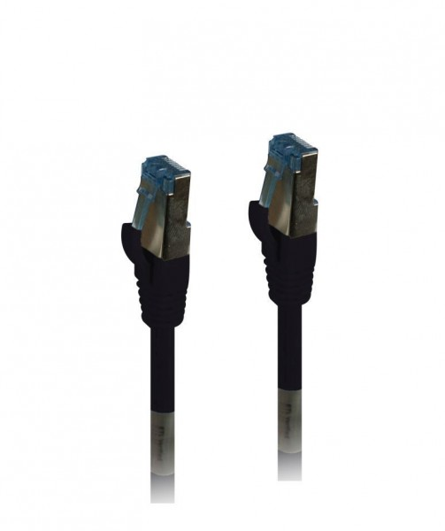 Patchkabel RJ45, CAT6A 500Mhz, 2m, schwarz, S-STP(S/FTP), PUR(Außen/Outdoor/Industrie), AWG26, Syner
