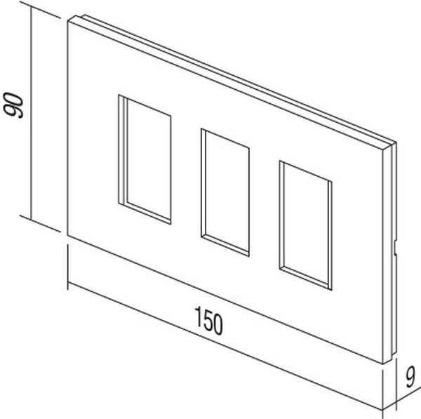 TEM Serie Modul Rahmen OL COVER PLATE LINE BATHROOM SETM