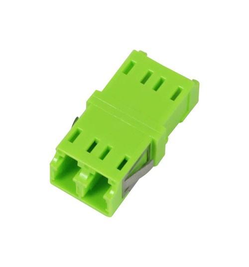 LWL-Kupplung, LC-Buchse/LC-Buchse, 50/125u Multimode OM5, lime Green, duplex, PVC, ohne Flansch, Syn