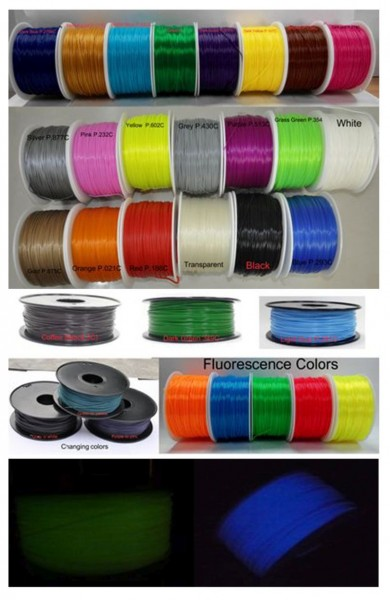 Synergy 21 3D Filament ABS /Changing color/ 1.75MM/grün to gelb