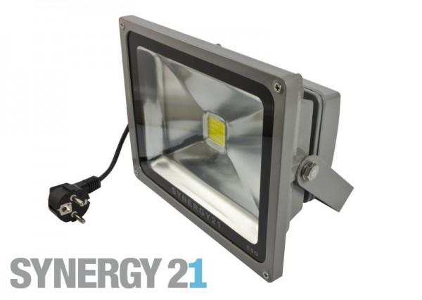 Synergy 21 LED Spot Outdoor Baustrahler 50W graues Gehäuse - warmweiß V2