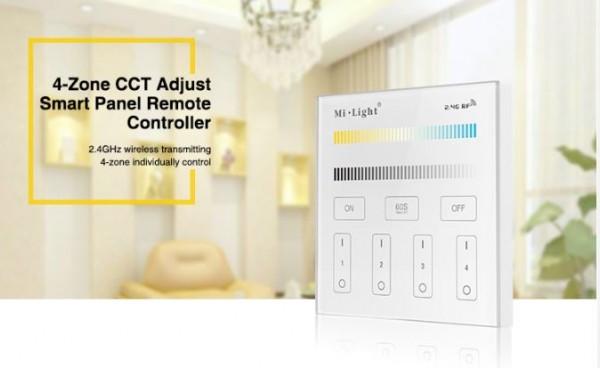 Synergy 21 LED Fernbedienung Smart Panel dual white (CCT) 4-Zonen *Milight/Miboxer*