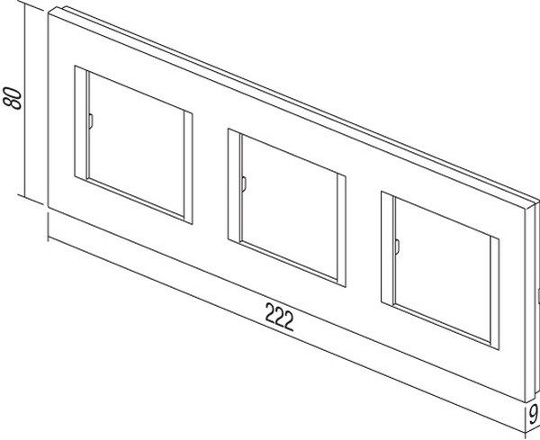 TEM Serie Modul Rahmen OL COVER PLATE LINE3x2M SB