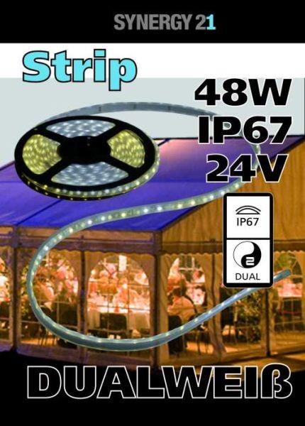 Synergy 21 LED Flex Strip dual white (CCT) DC24V IP67 48W pro Farbe