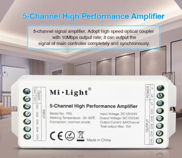Synergy 21 LED Controller 5-Channel Amplifier *Milight/Miboxer*