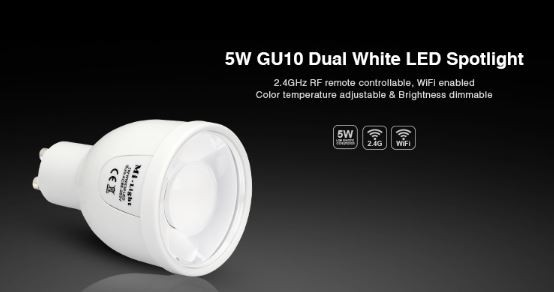 Synergy 21 LED Retrofit GU10 5W dual white (CCT) Spot *Milight/Miboxer*