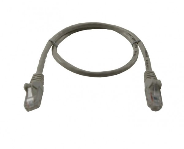 Patchkabel RJ45 UTP(U/UTP) 5m grau, CAT5e, Synergy 21,