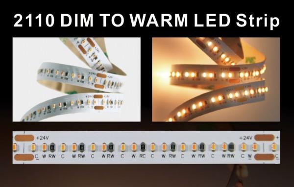 Synergy 21 LED Flex Strip warmweiß DC24V 100W IP20 CRI>90 2110 dim to warm