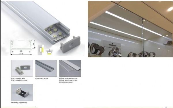 Synergy 21 LED U-Profil 200cm, ALU014