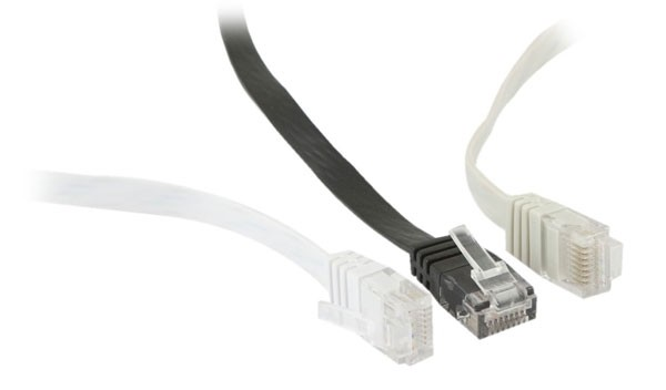 Patchkabel RJ45, CAT6 250Mhz, 7.5m weiss, UTP(U/UTP), PVC, Flach, Synergy 21,