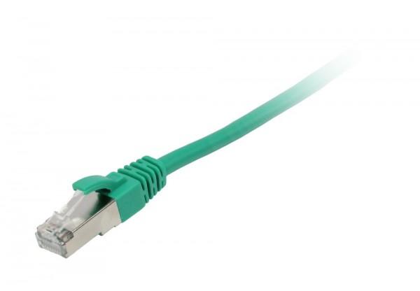 Patchkabel RJ45 FTP(F/UTP) 1.0m grün, CAT5e, Synergy 21,