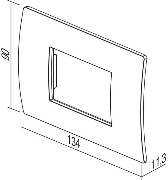 TEM Serie Modul Rahmen OP COVER PLATE PURE3M GG