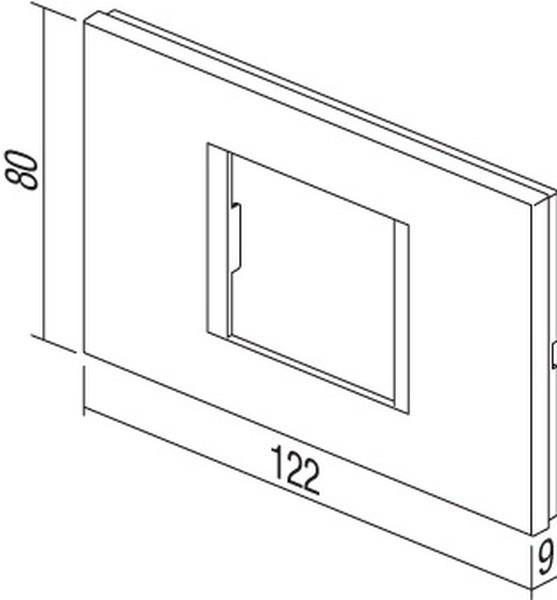 TEM Serie Modul Rahmen OL COVER PLATE LINE2/3M PW