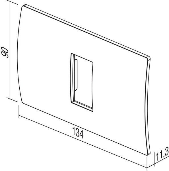 TEM Serie Modul Rahmen OP COVER PLATE PURE1/3M WB