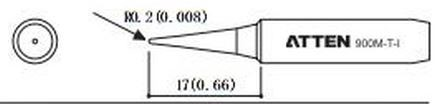 ATTEN T900-I / Ersatzlötspitze 0,2mm spitz