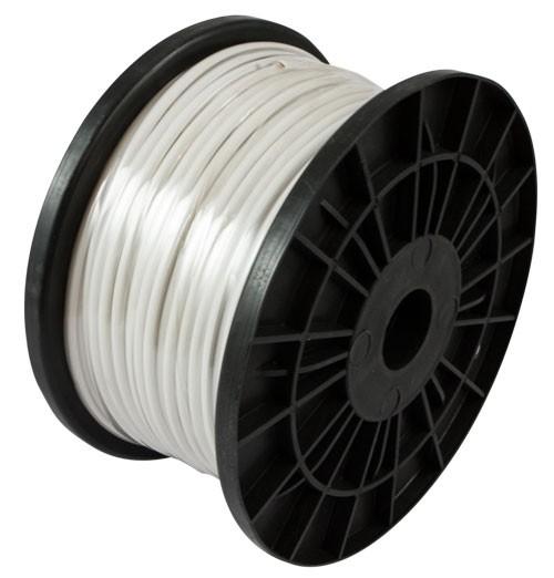 Kabel TK Flach 4 pol. 100m WEIß,flex, Flachkabel, Spule, Synergy 21,