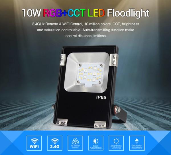 Synergy 21 LED Flächenstrahler 10W RGB-WW (RGB-CCT) IP65 230V *Milight/Miboxer*