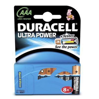 Batterien Micro AAA 1,5V *Duracell* Ultra Power - 8er Pack