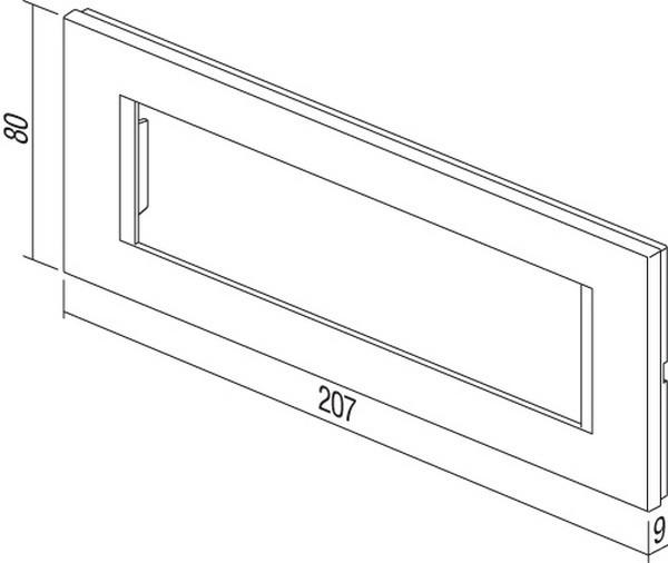 TEM Serie Modul Rahmen OL COVER PLATE LINE7M SW