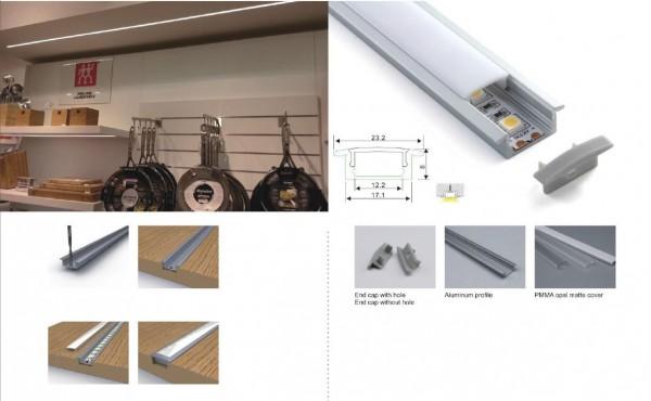 Synergy 21 LED U-Profil 200cm, ALU001-R