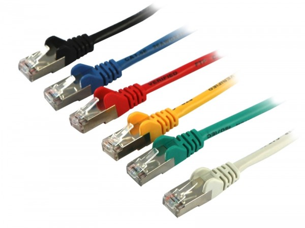 Patchkabel RJ45, 2m gelb, CAT5e, S-FTP(SF/UTP), Synergy 21,