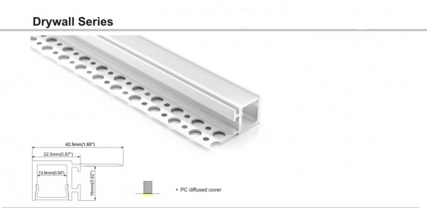 Synergy 21 LED U-Profil 200cm, ALU084 Rigipsprofil