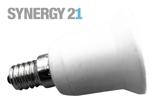 Synergy 21 LED Adapter für LED-Leuchtmittel E14->E27