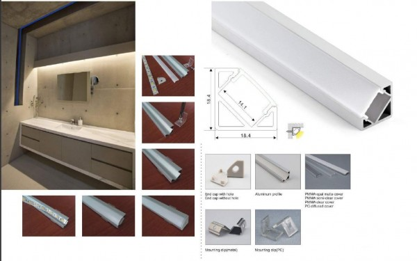 Synergy 21 LED U-Profil 200cm, ALU007-R V2 weiss