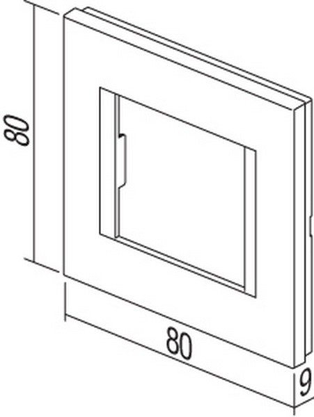 TEM Serie Modul Rahmen OL COVER PLATE LINE2M SB