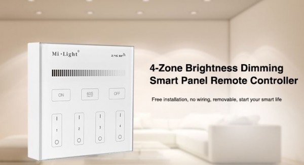 Synergy 21 LED Fernbedienung Smart Panel single color 4 Zonen *Milight/Miboxer*