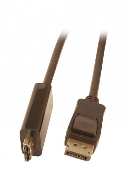Kabel Video DisplayPort 1.2 => HDMI 2.0, ST/ST, 3m, Ultra HD 4K@60hz 4:4:4, 8 Bit HDR, Synergy 21