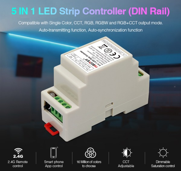 Synergy 21 LED Controller RGB-WW (RGB-CCT) DC12/24V Strip/Panel 5in1*Milight/Miboxer*
