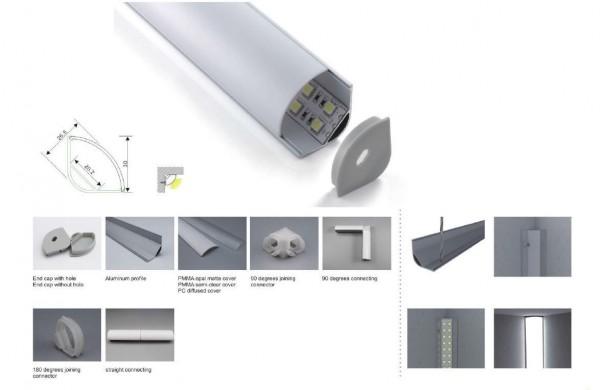 Synergy 21 LED U-Profil 200cm, ALU016-R