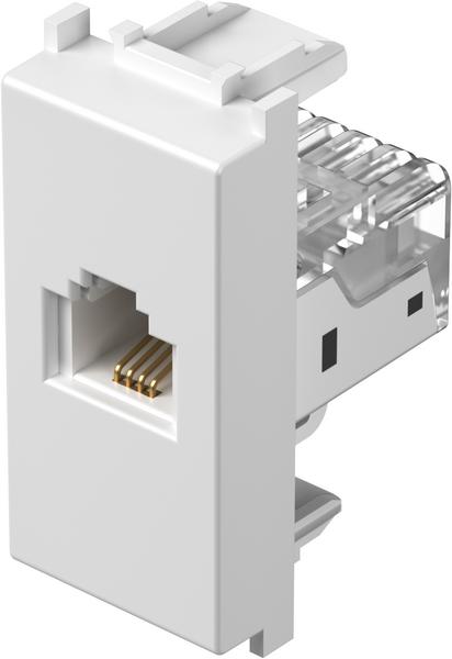TEM Serie Modul Steckdosen SOCKET TEL KSRJ11 6/4 1M PW