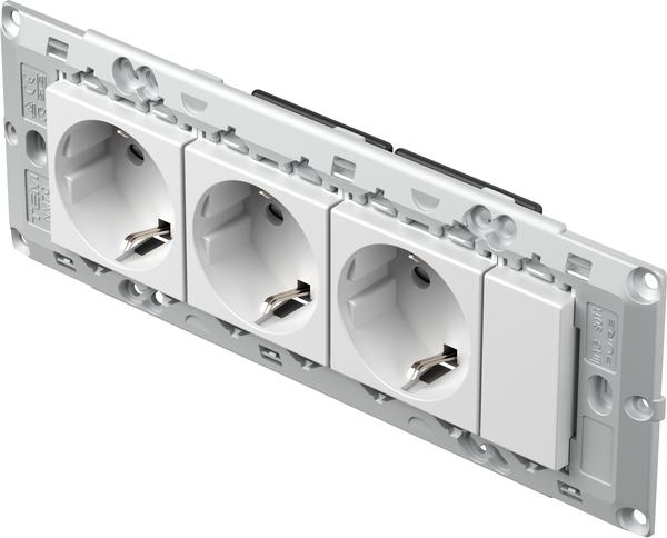 TEM Serie Modul Sets SOCKETS SET 3x Schutzkontakt 2P+E 16A